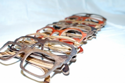 Handmade wooden glasses by Jefferson Eyewear